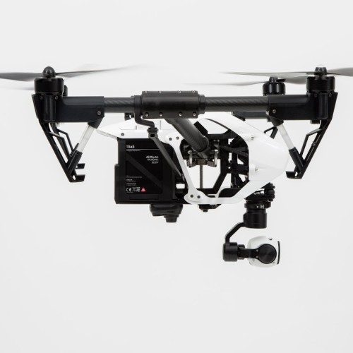 DJI Inspire 1 side view landing gear retracted