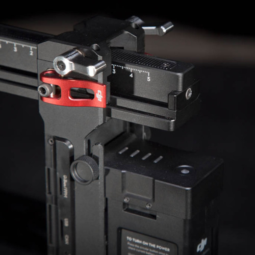 DJI Ronin adjustable rear support, Built in LiPo Battery, and Built in wireless and bluetooth for control/tuning